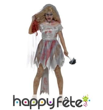 Costume de mariée zombie