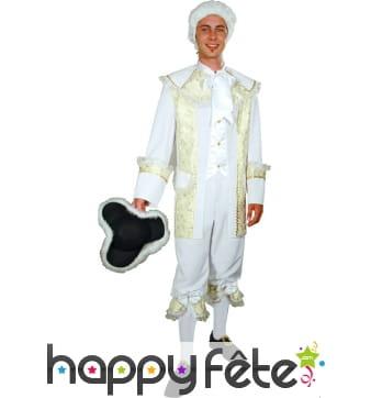 Costume de Marquis blanc