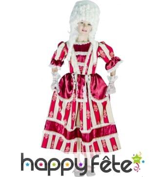 Costume de Marquise bordeaux