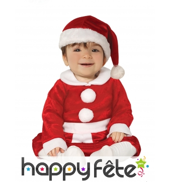 Costume de mère Noël pour bébé