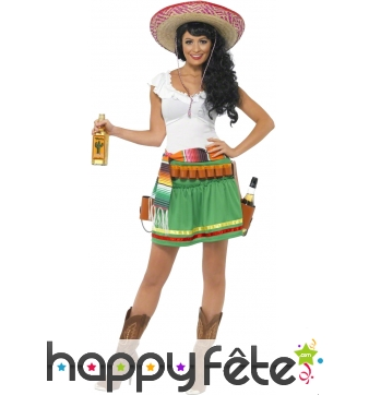 Costume de mexicaine tequila shooter