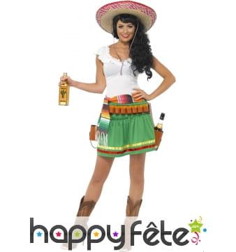 Costume de mexicaine tequila shooter