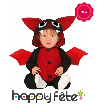 Costume de mignonne petite chauve souris pour bébé