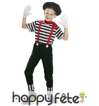 Costume de mime pour enfant