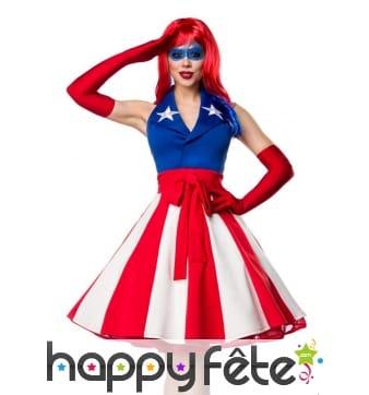 Costume de miss america pour femme