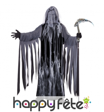 Costume de moissonneur d'âme gris sans visage