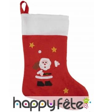 Chaussette de Noël décorative imprimé père noël