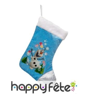 Chaussette de Noël Olaf, reine des neiges