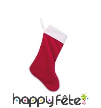 Chaussette de Noël rouge et blanc, 29 x 48 cm