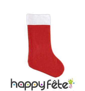 Chaussette de Noël rouge unie
