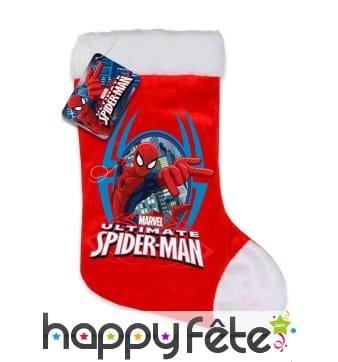 Chaussette de Noël spider man