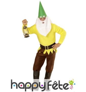 Costume de nain jaune pour homme