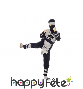 Costume de ninja motif squelette pour enfant