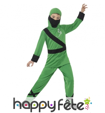 Costume de ninja vert pour enfant