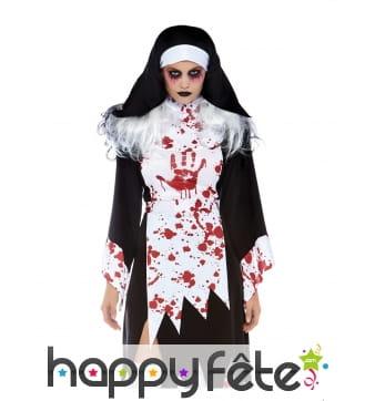 Costume de nonne ensanglanté pour adulte