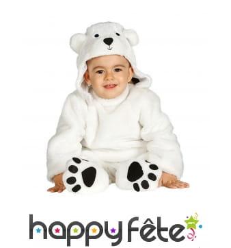 Combinaison d'ours blanc pour bébé