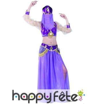 Costume danseuse orientale violet