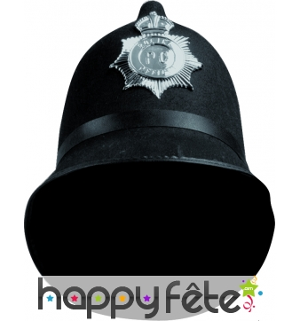 Casque de policer anglais avec badge