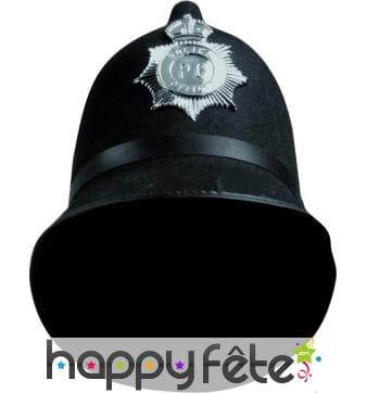 Casque de policier anglais avec badge