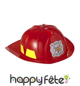 Casque de pompier rouge pour enfant