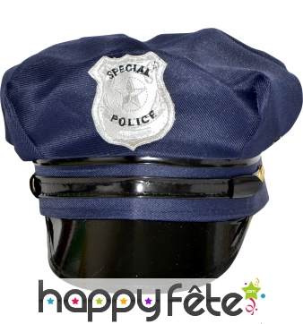 Casquette de police americaine bleue