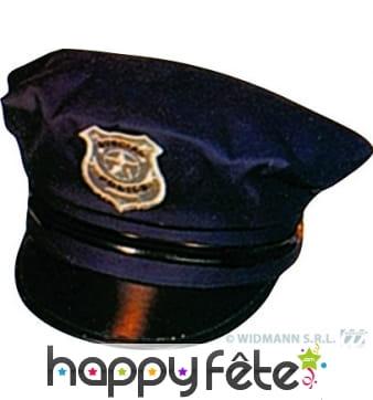 Casquette de police américaine noire