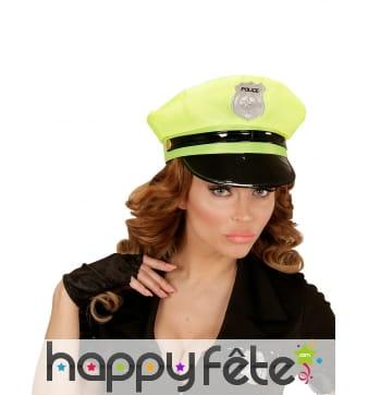 Casquette de police jaune