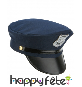 Casquette de policier bleue foncée