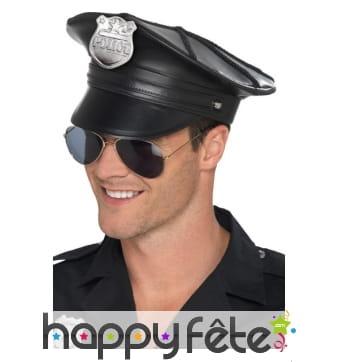 Casquette de policier modèle luxe