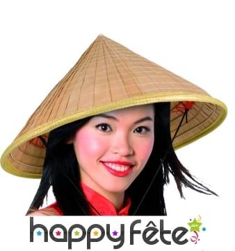 Chapeau de paille oriental chinoise