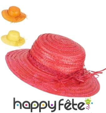 Chapeau de paille vintage coloré