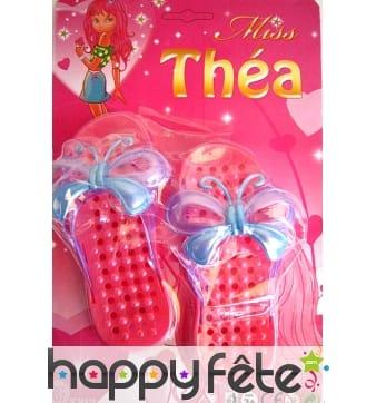 Chaussures de plage décorées