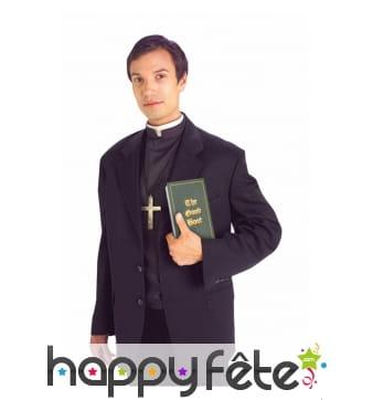 Chemise de prêtre avec col