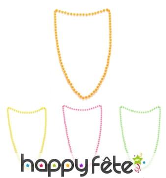Collier de perles colorées années 80