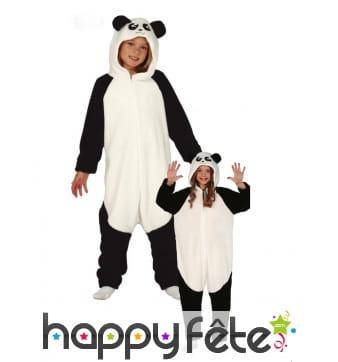 Combinaison de panda pour enfant