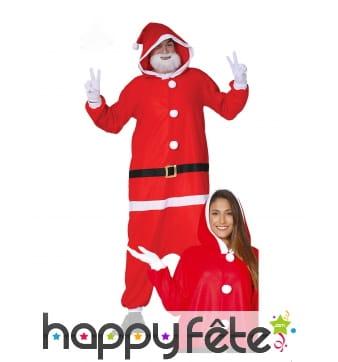 Combinaison de Papa Noël pour adulte