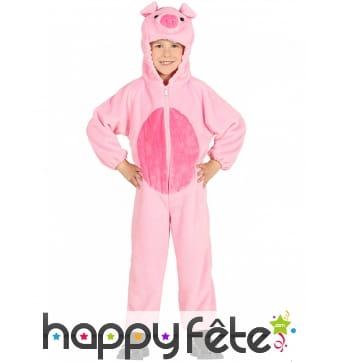 Combinaison de petit cochon rose pour enfant