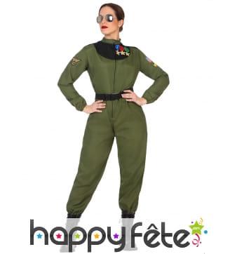 Combinaison de pilote armée de l'air femme