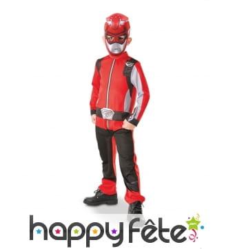Combinaison de Power Rangers rouge pour enfant