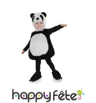 Costume de panda en peluche pour enfant