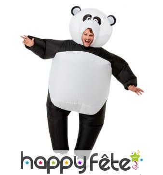 Costume de panda gonflable pour adulte