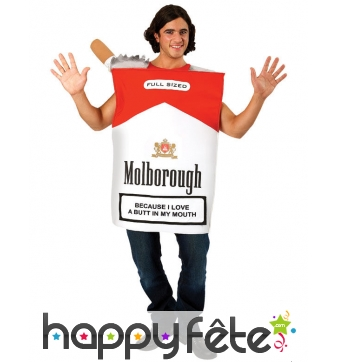Costume de paquet de cigarette