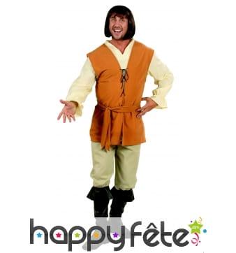 Costume de paysan médiéval pour homme adulte