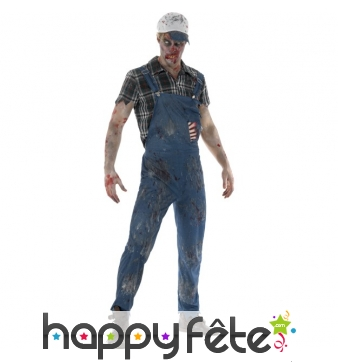 Costume de péquenaud zombie Hillbilly