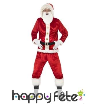 Costume de père Noël, haut à capuche