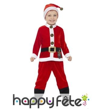 Costume de père Noël taille enfant