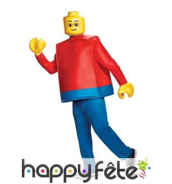 Costume de personnage LEGO pour adulte, luxe