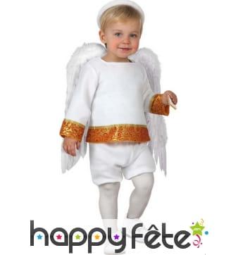 Costume de petit ange blanc et orange pour bébé