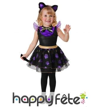 Costume de petit chat noir et violet pour bébé