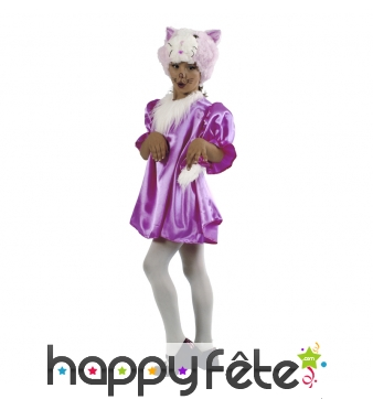 Costume de petit chat violet enfant